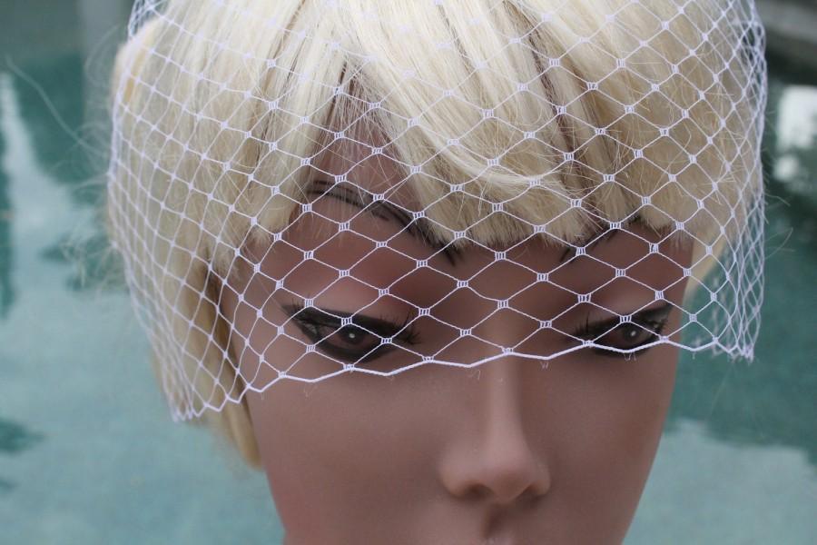 """زفاف - Birdcage Veil, Vintage Blusher Veil, Bridal Blusher, Ivory Birdcage , White Birdcage,  Mini Birdcage Veil  7 """" , Wedding Veil"""