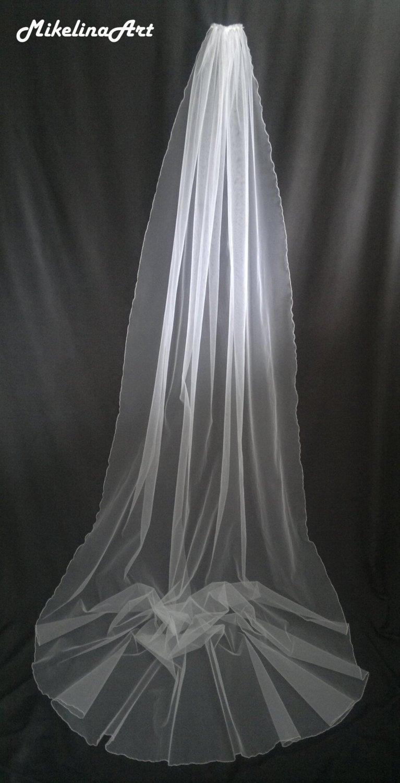 Hochzeit - Cathedral Veil, White