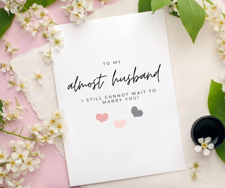 Свадьба - Almost Husband / Wife would be wedding day postponed wedding card For Future Husband/ Wife - Would be Wedding Day Card