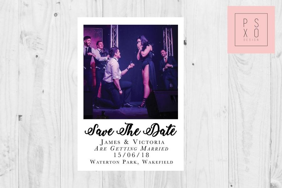 Hochzeit - Save The Date Magnets // Personalised Photo Polaroid Magnet // Polaroid Design / Photo Magnet / Proposal Photo / Save The Date Magnet