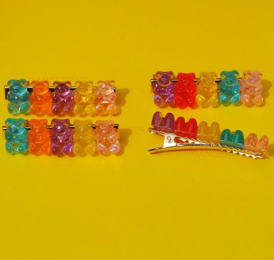 Hochzeit - Set of 2 Gummy Bear Hair clips