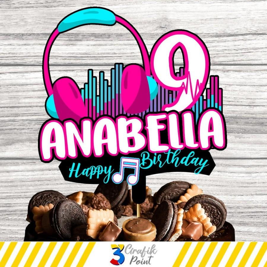 Hochzeit - Musical cake topper printable, musical cake topper , musical Birthday, dance cake topper , musical party, custom cake topper