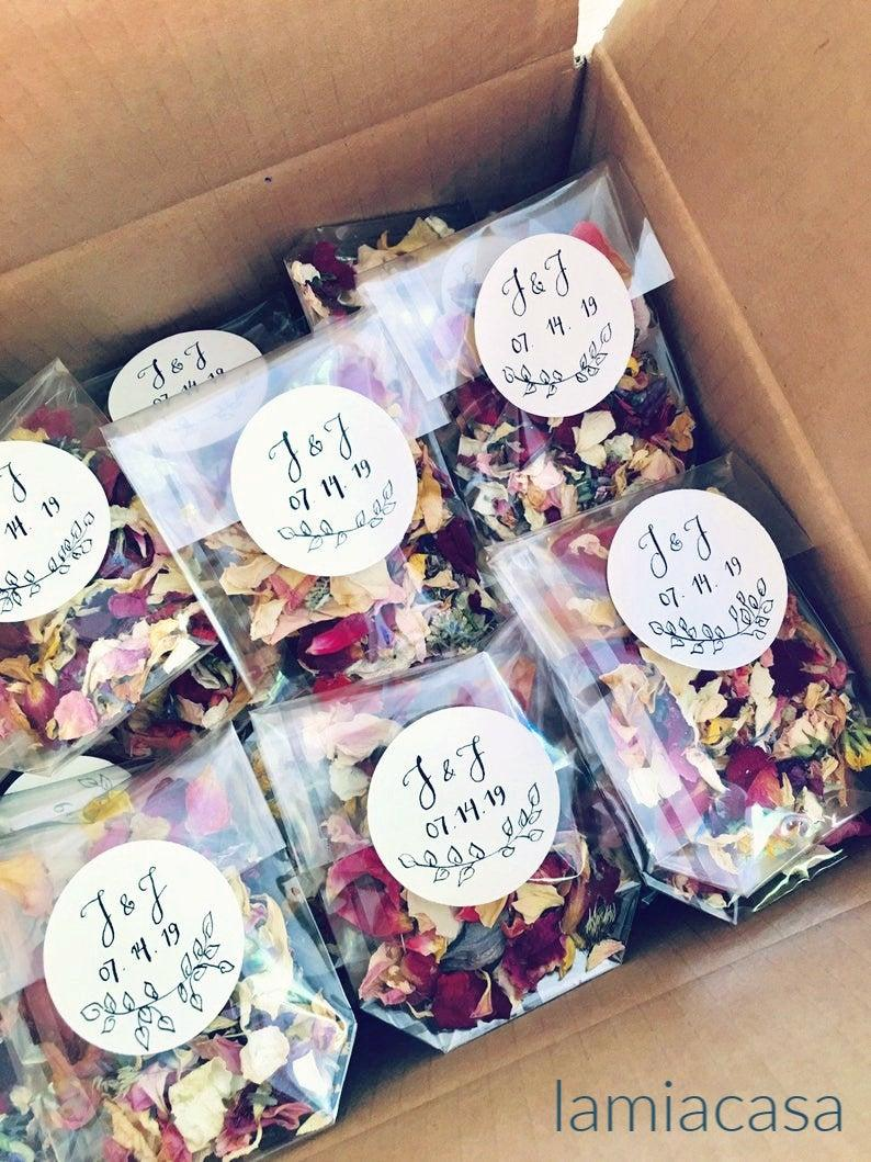 Wedding - Wedding confetti, Biodegradable confetti, Petal Confetti, Flower confetti, Eco friendly confetti, Petal toss bags, Confetti packets/10 packs