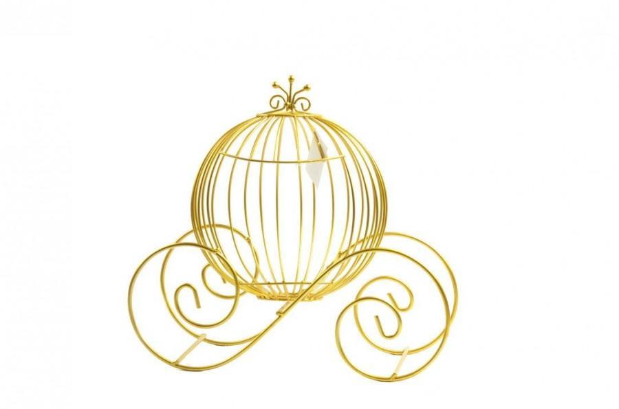 زفاف - Cinderella Pumpkin Carriage- Card Holder-Sweet Fifteen-Party Decorations. 15 Inches