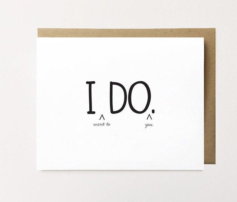 زفاف - I do card, Naughty husband to be card, Naughty new husband card, Funny newlywed card, Just married card, Dirty fiancé card, Funny I do card