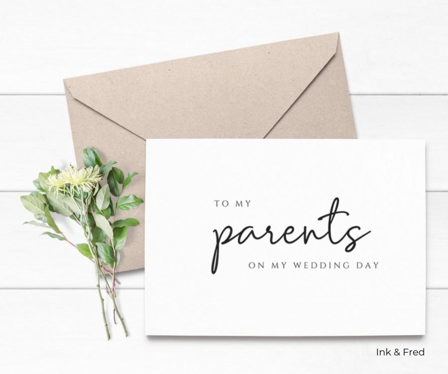 Hochzeit - Wedding Card to Parents, Parents Card, Mother, Best Friend Card from Daughter, Mother of the Bride Wedding Card, Mother's Day