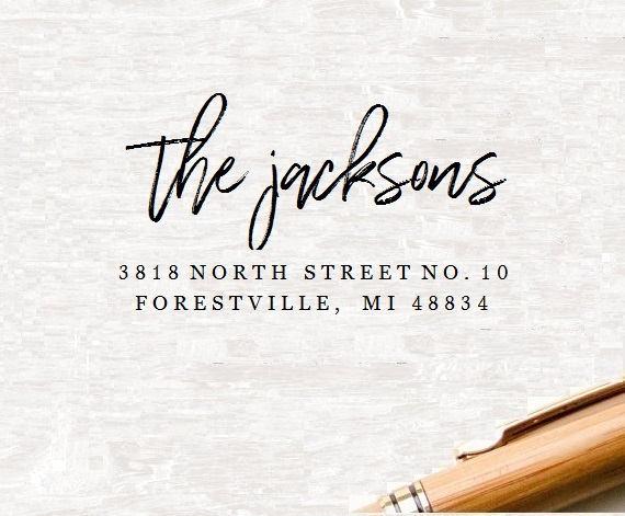 Hochzeit - Custom Return Address Stamp, Self Ink Return Address Stamp, Personalized Address Stamp, Self Ink Custom Address Stamp (K9), Rubber Stamp