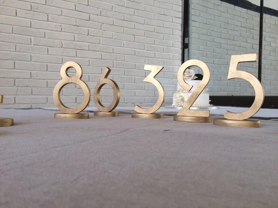 Mariage - Wedding signs Gold table numbers 5,5 inches Art Deco or Gatsby style for wedding table decor