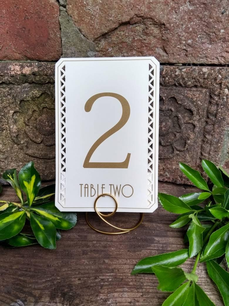 Свадьба - Delicate freestanding swan neck table number holders, all colours!