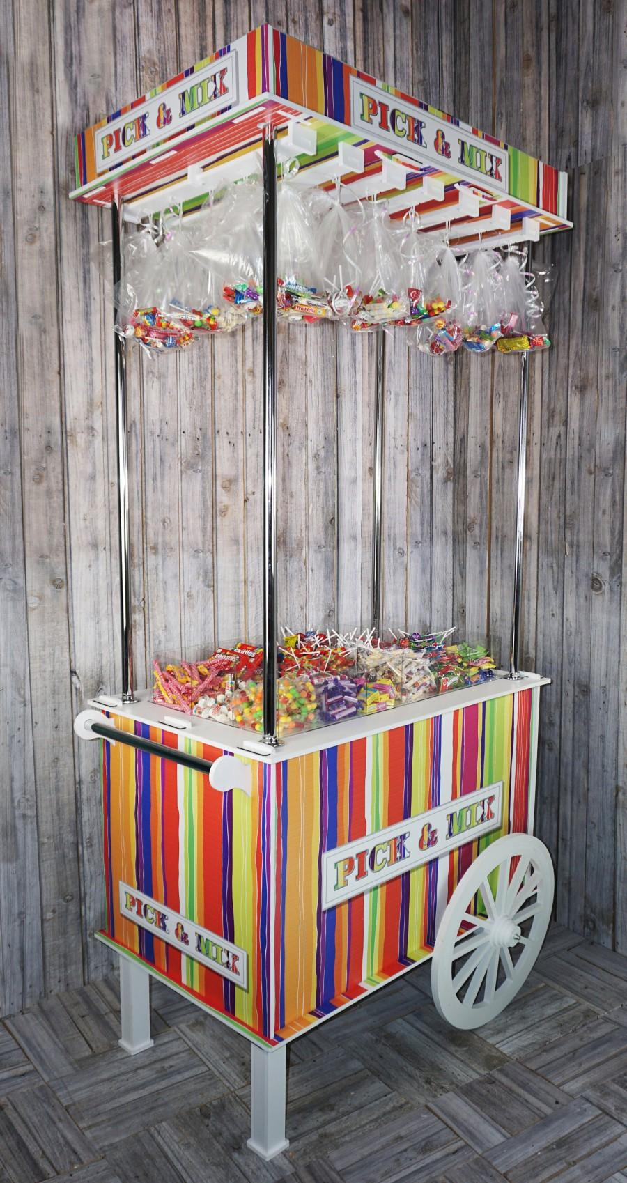 Свадьба - Sweet Cart, Candy Cart Various Sizes from 220cm (7ft) tall to 105cm (3ft) Tall, with Clear acrylic Top to Hold Sweets