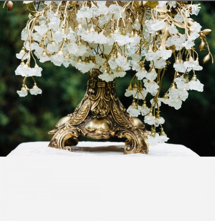 Свадьба - Sofreh Aghd White Nabat Branch in Gold or Silver For Persian Wedding Aroosi