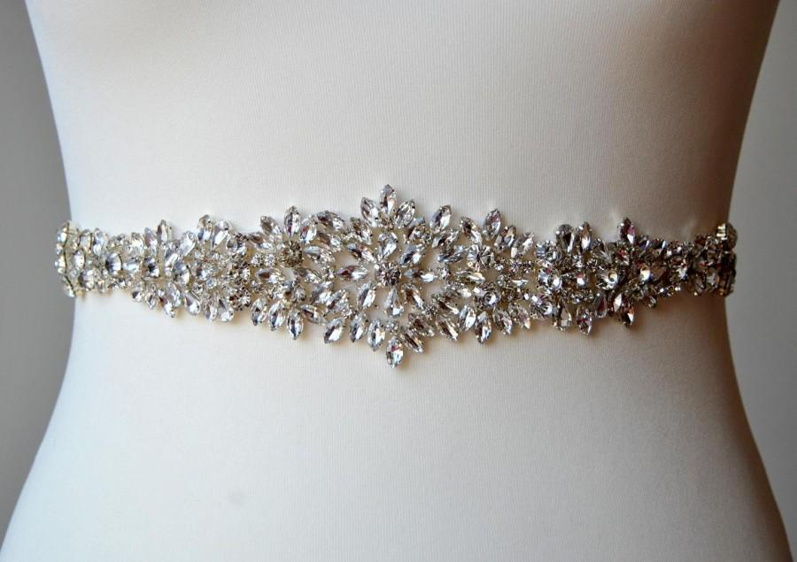 Свадьба - Wedding Dress Sash Belt, Luxury Crystal Bridal Sash, Rhinestone Sash,  Rhinestone Bridal Bridesmaid Sash Belt, Wedding dress sash