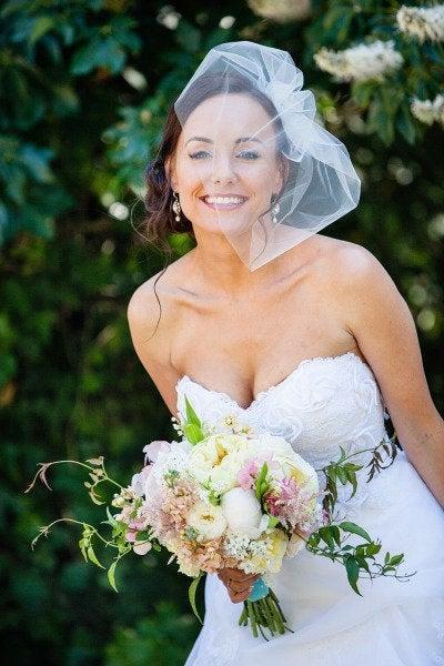 Свадьба - Birdcage Veil, Blusher Veil, Bird Cage Veil, Wedding Veil, Bridal Veil, Short Veil, Ivory Veil, Soft Veil, tulle  Ivory Birdcage Veil gift