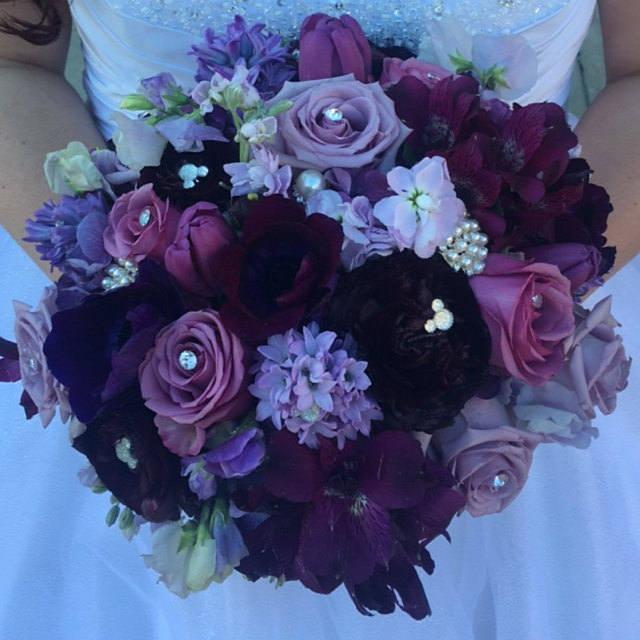 Mariage - Disney Wedding Flower Pins-6 Hidden Mickey Mouse Ears Bouquet Pins-Centerpieces-Boutonniere Flower Pins