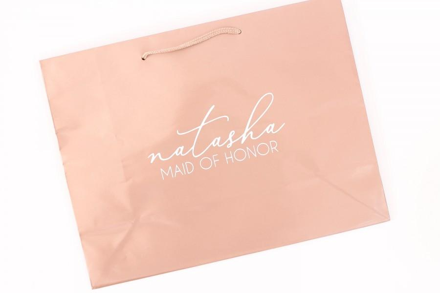 Mariage - Personalized Gift Bag-Rose Gold Gift Bag - Bridesmaid Gift Bag-Bachelorette Party Gift Bag-Bridesmaid Bag-Personalized Bag-Wedding Gift Bags