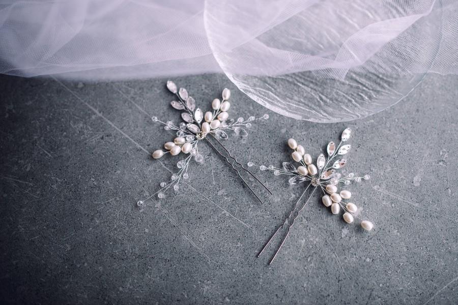 زفاف - Bridal hair pins,Wedding hair pins,Silver bridal hair pins,Wedding Hair Accessories, Bridal Hair Accessories, Bridal hair vine,