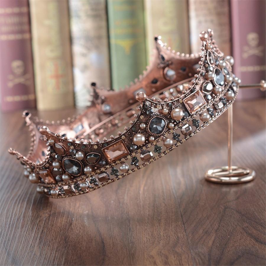 Wedding - Baroque Diamond Crown//Hair Band//Bridal Crown//Wedding Crystal Hair Accessory//Wedding Gift
