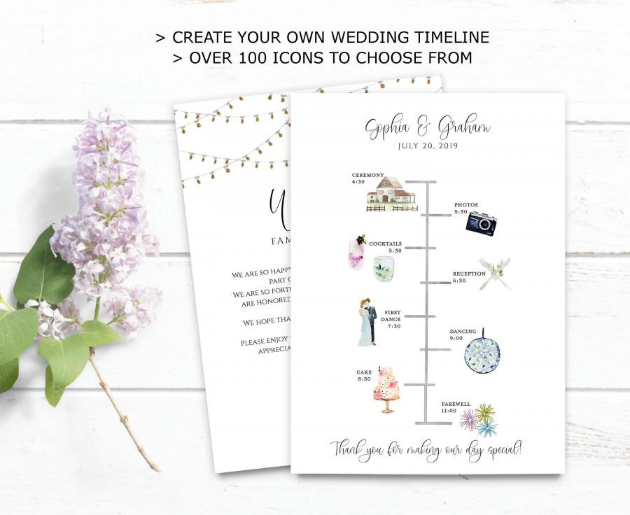 Wedding Timeline Printable Editable Timeline Rustic Wedding Welcome Order Of Events Wedding Day Timeline Diy Wedding Itinerary Template 2973442 Weddbook