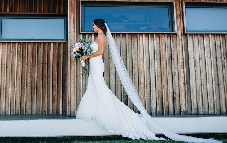 Wedding - Soft Wedding Veil, All Lengths Available, Long Veil, Cathedral Veil, Bridal Fingertip Veil, Bridal Veil, Chapel Veil, Waltz Veil, Knee Ivory
