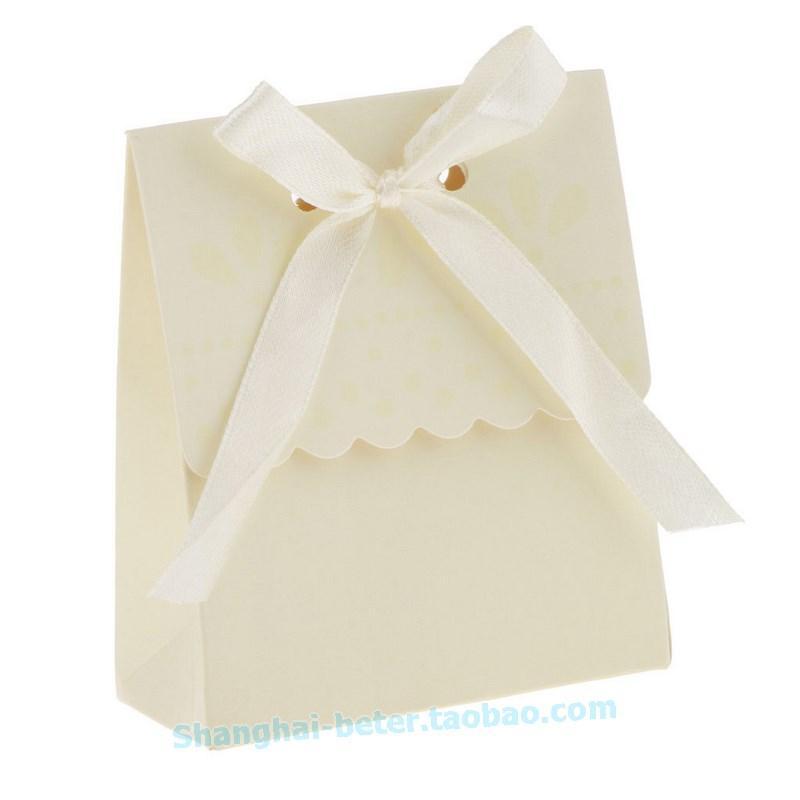 Wedding - 12pcs餅乾包裝袋子佈置Summer Wedding糖果盒喜糖盒DIY禮盒TH003