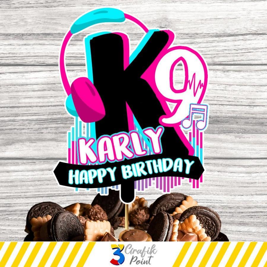 Свадьба - Musical cake topper printable, musical cake topper , musical Birthday, dance cake topper , musical party, custom cake topper
