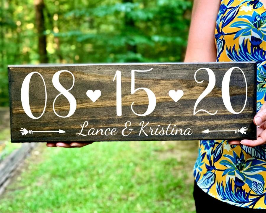 Wedding - Engagement Photo Save the Date Sign Wedding Date Sign, Elopement Sign, Special Date Sign, Wedding Photo Prop, Engagement Announcement Sign