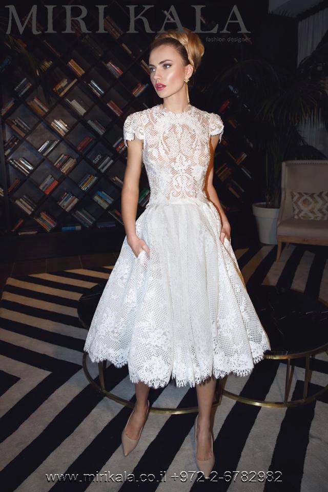 Wedding - Short wedding dress, Short wedding dress with sleeves, Short wedding dress lace, Lace wedding dress, Lace wedding gown