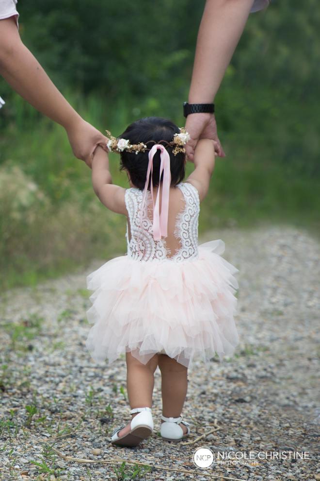 Wedding - Blush Pink Flower Girl Dress, Boho Beach Wedding Dress, Princess Tutu Dress, Crochet Baby Dress