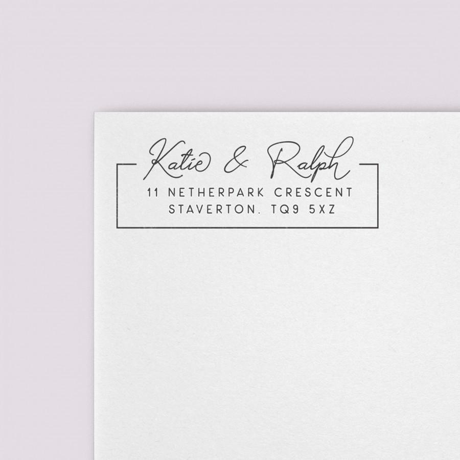 Wedding - Simple Calligraphy Self-Inking Custom Address Stamp