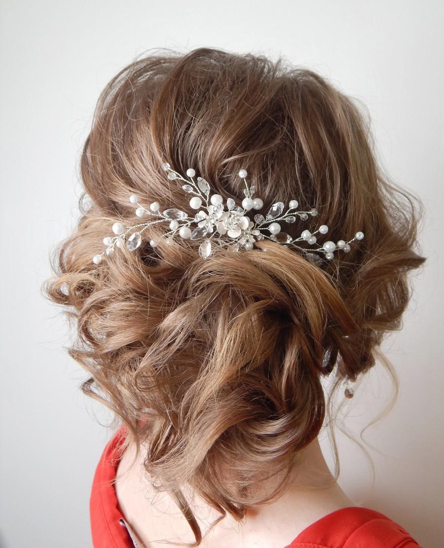 Hochzeit - Pearl hair comb Ivory bridal comb Bridal hair comb Wedding Hair Accessories Wedding Hair Pin Bridal hair clip Bride hair piece