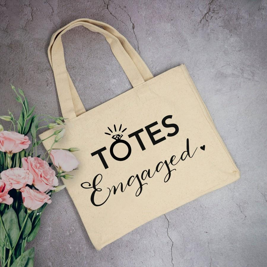 Hochzeit - Totes Engaged Tote Bag - Engagement Gifts For Women