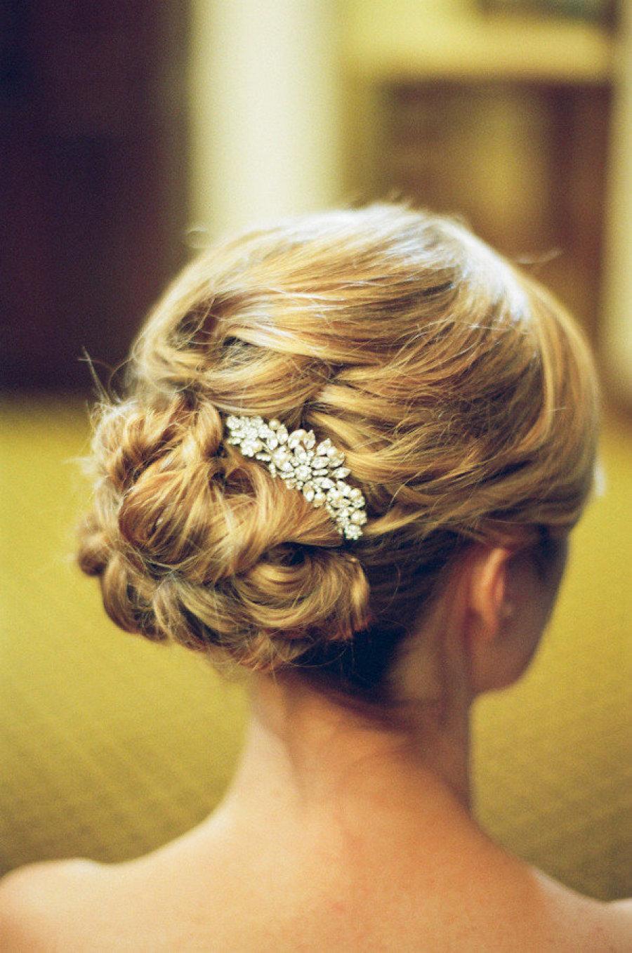 Свадьба - ELEONOR Crystal Pearl Wedding Hair Comb Veil Gatsby Comb Vintage Hairpiece Veil Comb Bridal Hair Accessory Crystal Jewelry Headpiece