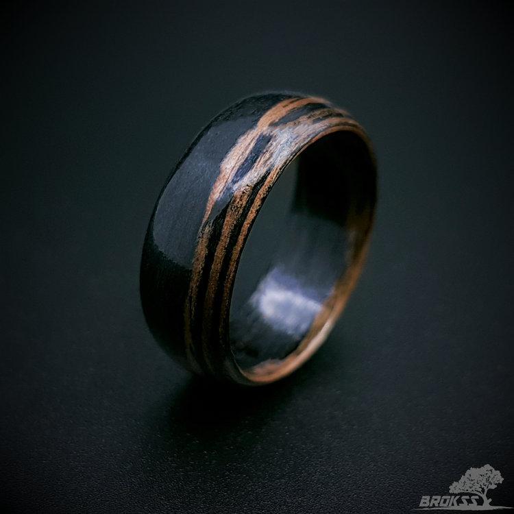 Wedding - Macassar bentwood ring, wooden ring, bentwood ring, wood rings for women, wood ring for men, wood ring, women's wood ring, wood wedding ring