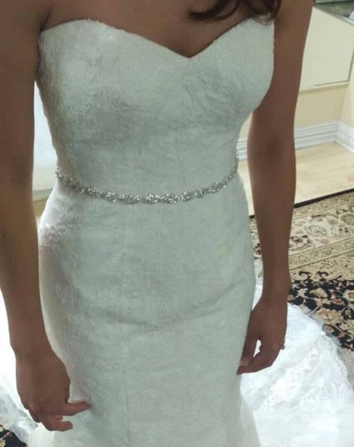Hochzeit - Thin Bridal Belt Sash ,Rhinestone Belt Sash ,Flower Girl Bridesmaid Gift Sash belt, Crystal Dress Sash Belt ,Wedding Belt