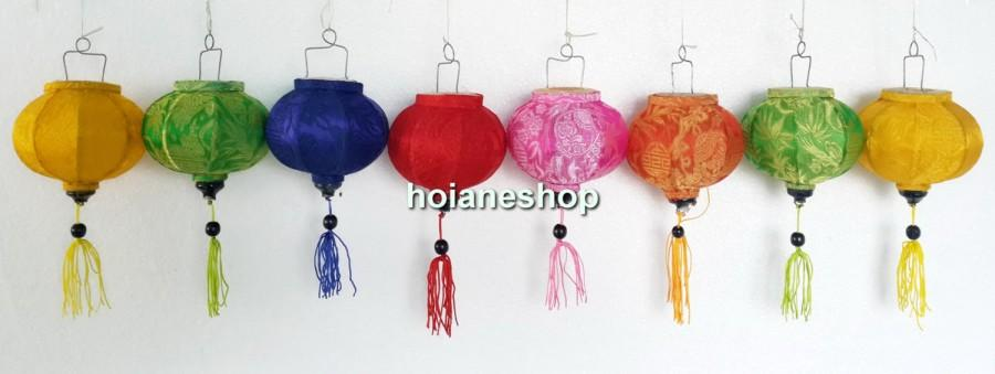 زفاف - 8 Mini Lanterns - Hoi an silk lanterns for WEDDING Party Decor  - String lanterns