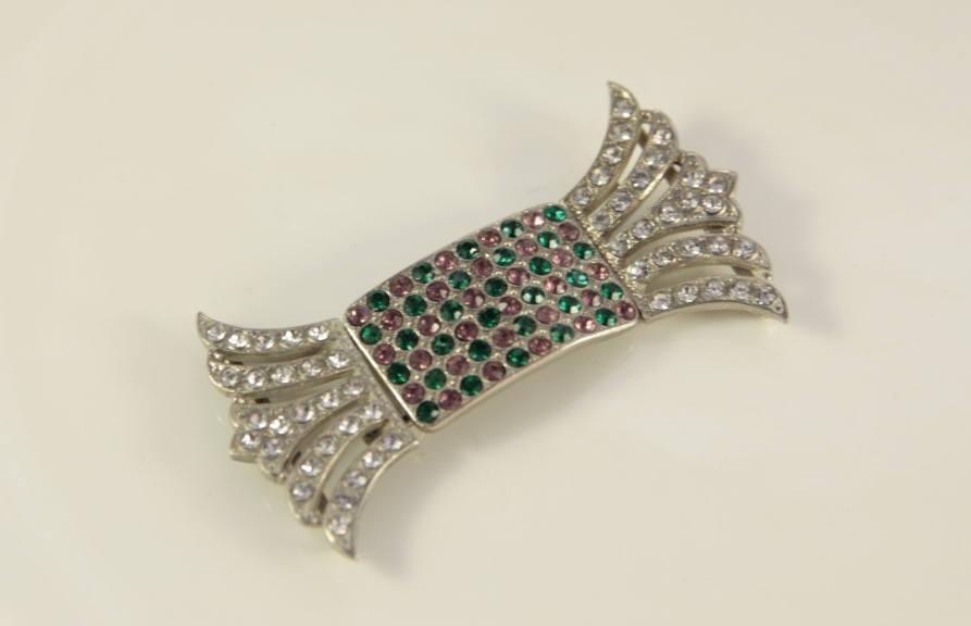 زفاف - Art Deco Bridal Belt Buckle 1920s Belt Emerald Green Bridal Belt Crystal Bridal Belt Vintage Buckle Bridal Bow Belt Rhinestone Bridal Buckle