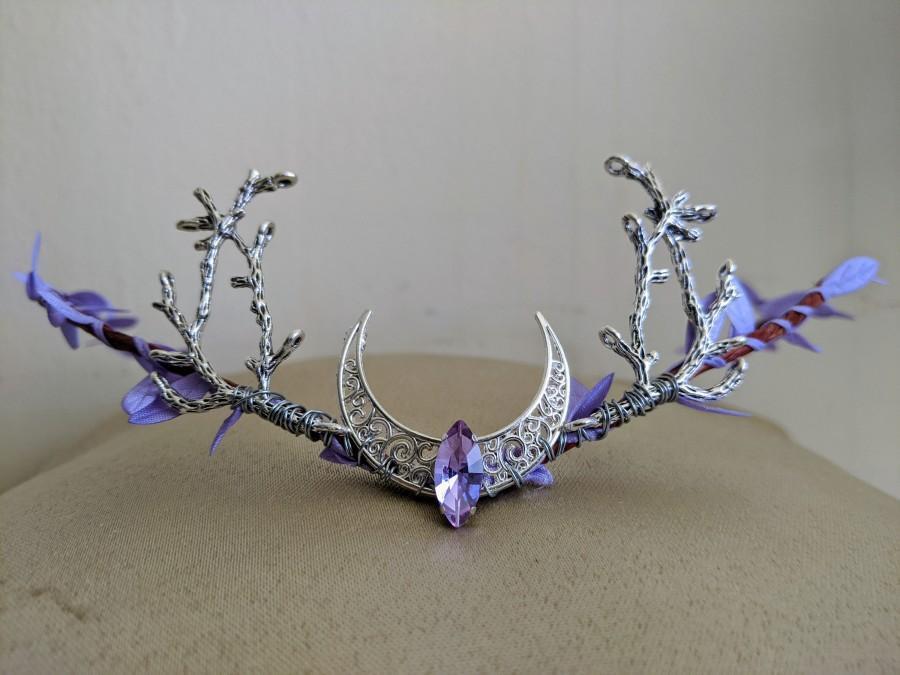 Hochzeit - Lavender Moon Woodland Tiara with Branches