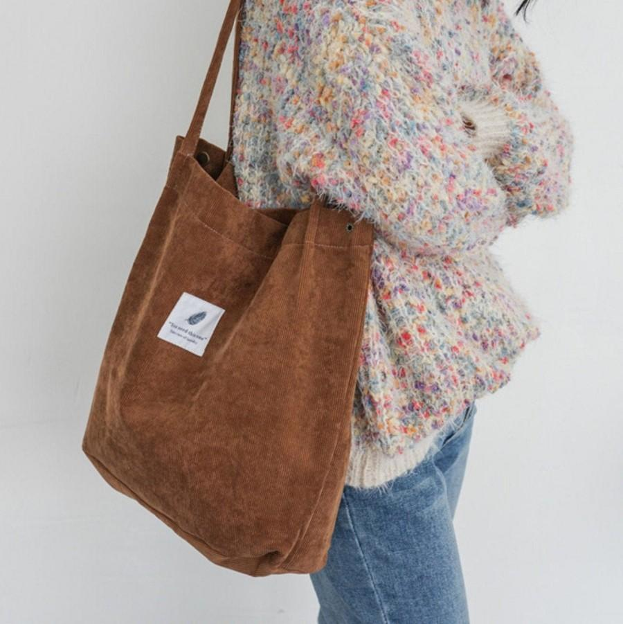 Wedding - Tote Bags, Corduroy bag, modern bag, simple Handbags, Shoulder Bags, handmade, Shopping bags, Girls Handbag, modern minimal, gifts for her