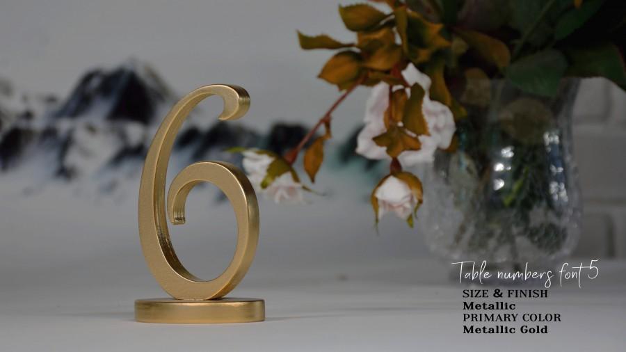 Свадьба - Wedding Table Numbers, Gold Table Numbers, Silver Table Numbers, EXPRESS SHIPPING- 2-4 business days