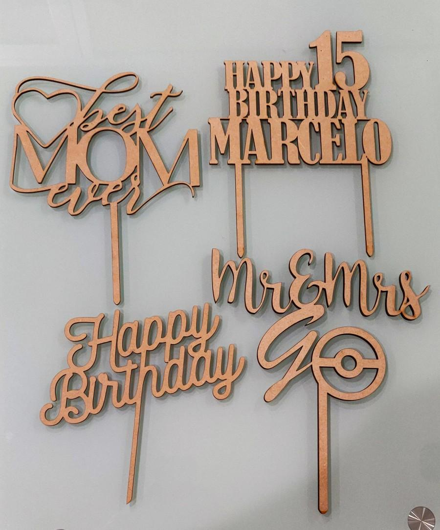 Hochzeit - Personalized Cake Toppers, Wood Cake Topper, Custom Cake Topper, Birthday Cake Topper, Anniversary Cake Topper, Wedding Cake Topper