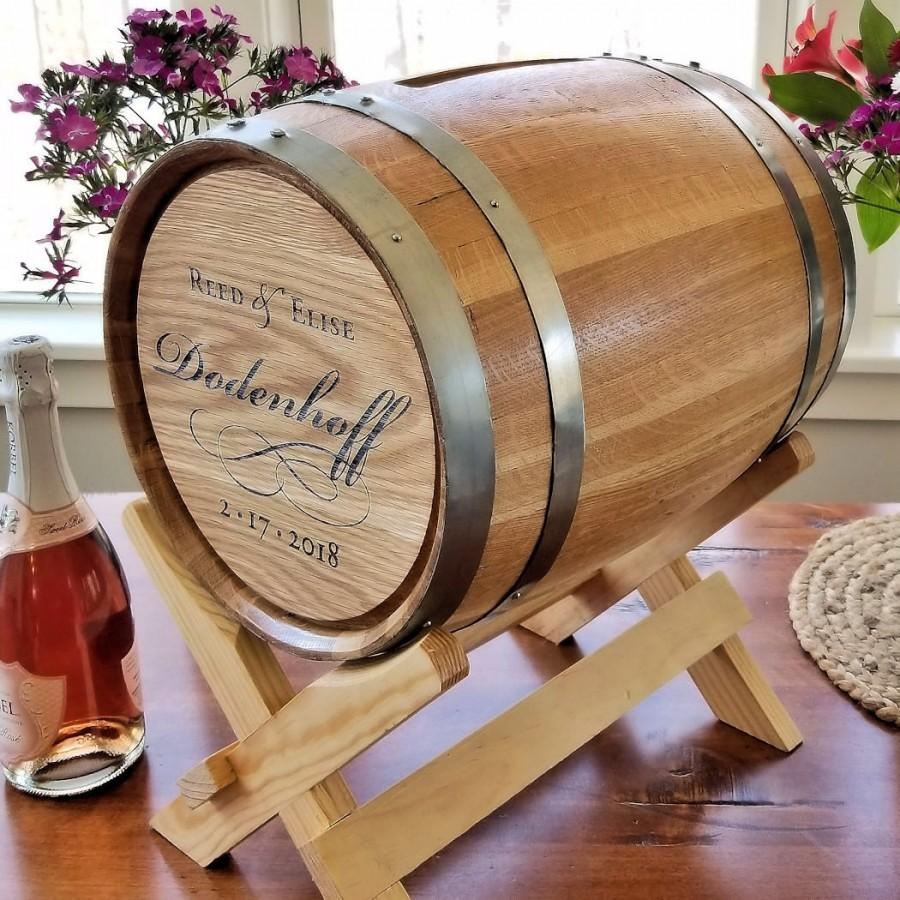 Mariage - 5 Gallon Personalized Script Wedding Barrel