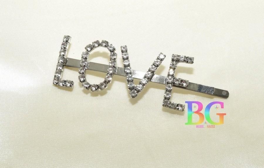 Свадьба - The Love Word Silver Hair Pin