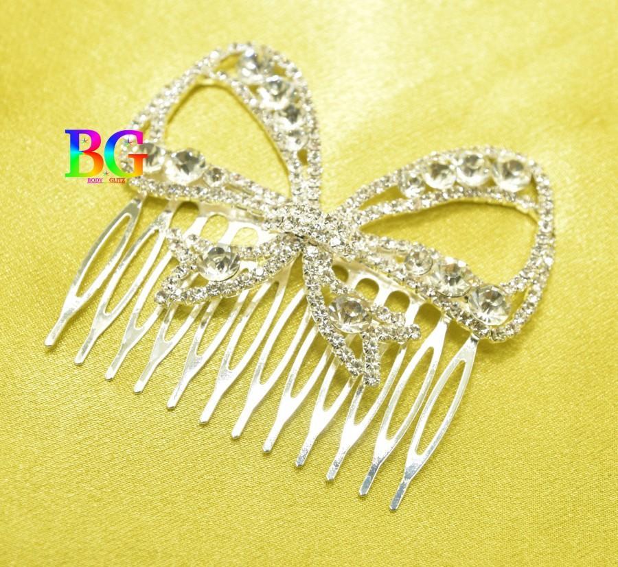 Свадьба - Crystal Bow Wedding Hair Comb