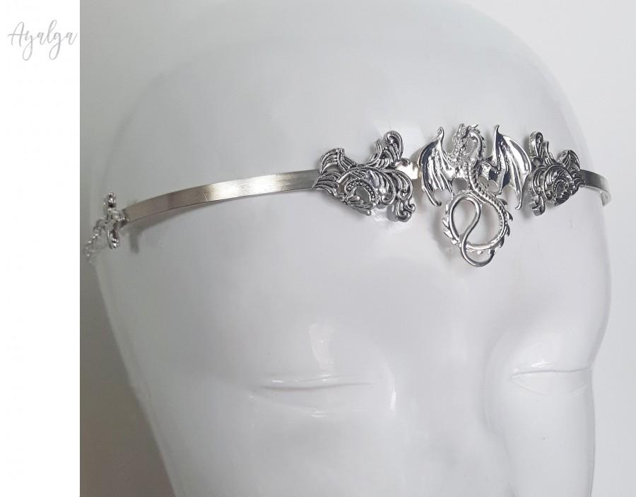 زفاف - Metal chocker - tiara . Wolf necklace . Medieval crown- statement jewelry