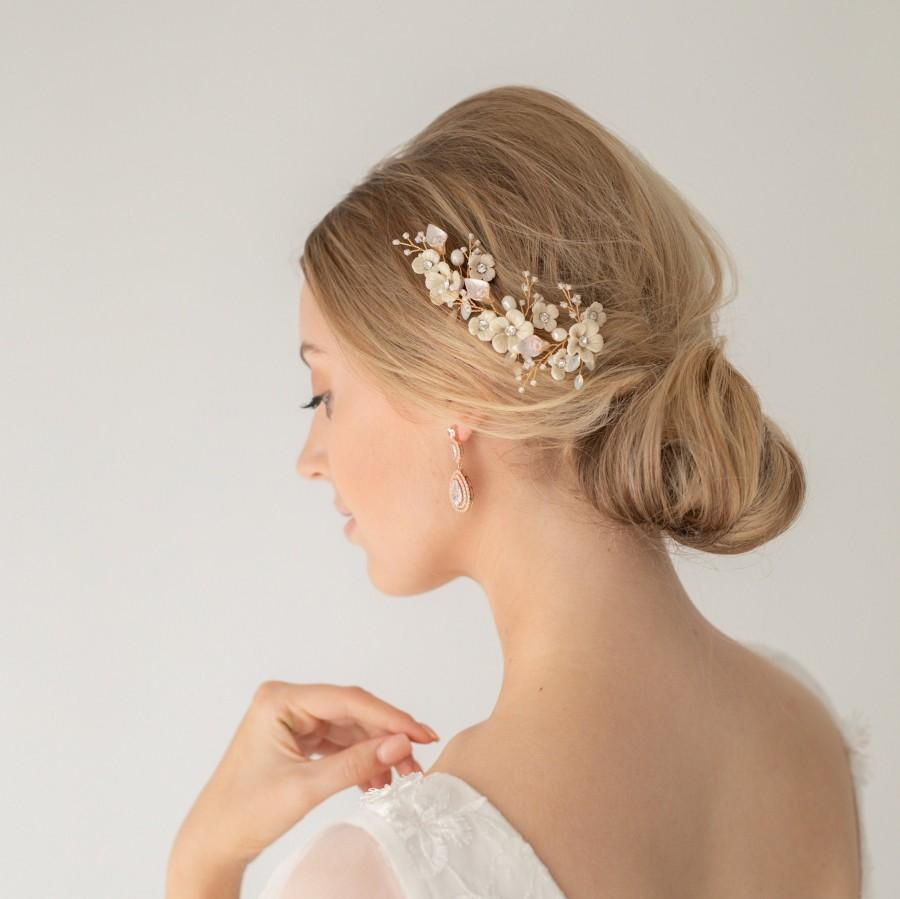 Mariage - Ivory Flower Bridal Hair Pin