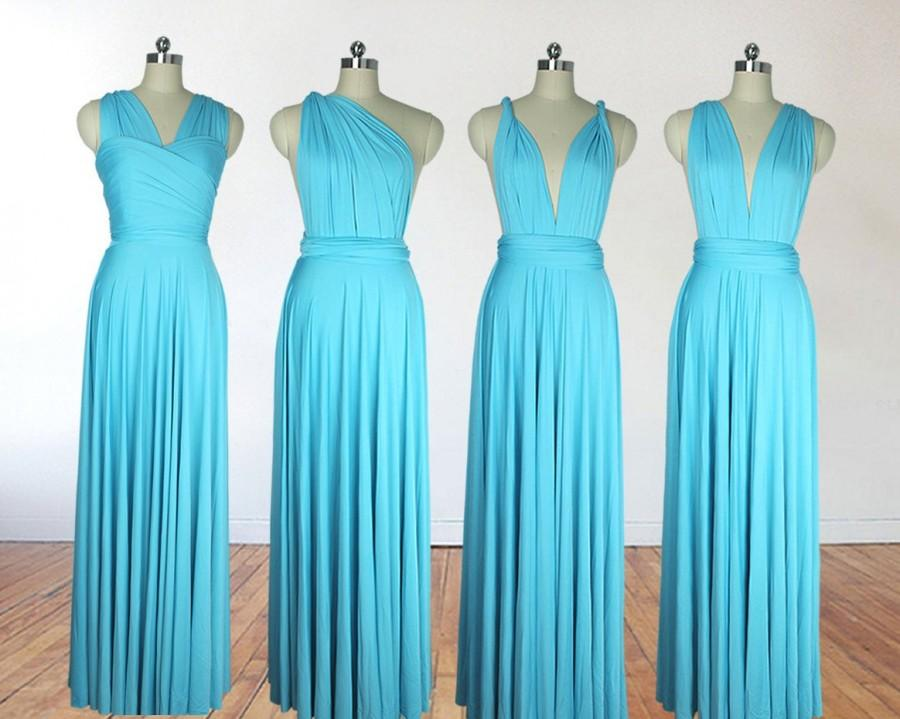 Свадьба - Turquoise bridesmaid dress infinity dress long bridesmaid dress bridesmaids dresses long dress convertible dress maternity gown party dress