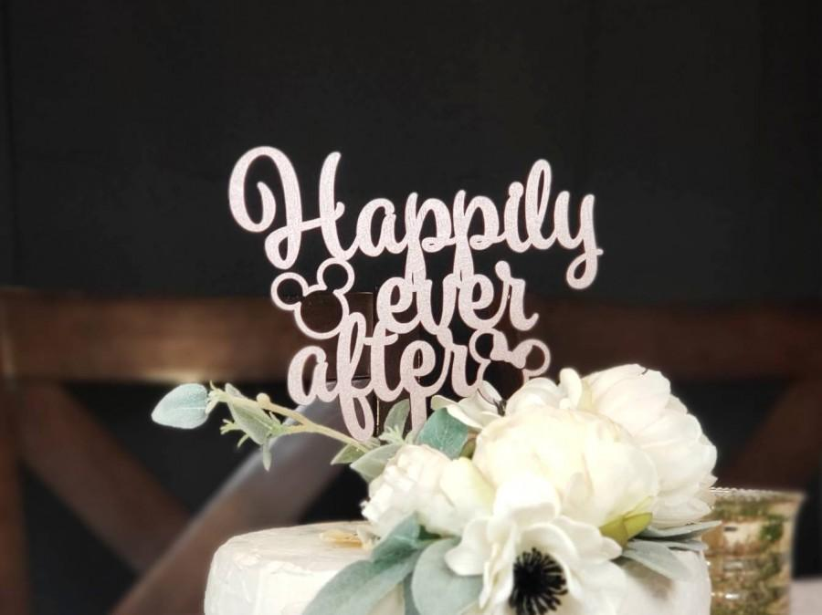 Wedding - Happily Ever After Cake Topper Gold
