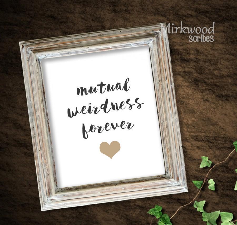 Wedding - Mutual Weirdness Forever Print