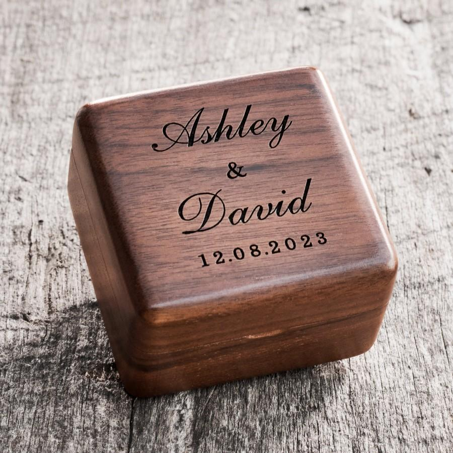 Mariage - Custom Wedding Ring Box, Wood Ring Box, Engagement Ring Box, Ring Bearer Ring Box, Ring Box Holder, Proposal Ring Box, Wedding Ring Box