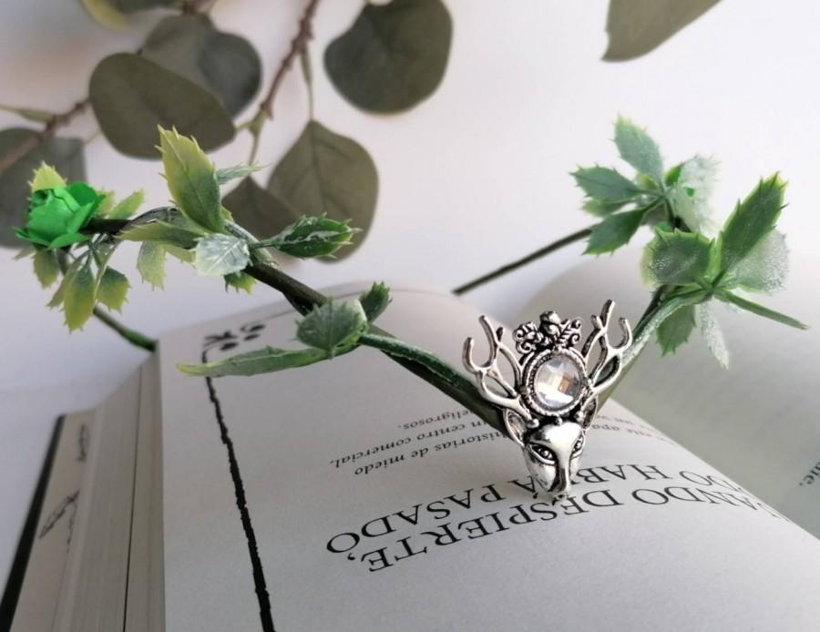 زفاف - Woodland elf tiara - elven headpiece - fairy crown- woodland crown - elven forest - elvish tiara - elven clothes - medieval accessories